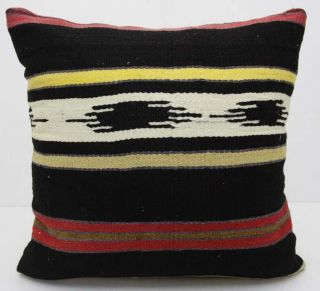 DECORATIVE THROW PILLOW COVER MADE FROM HANDWOVEN TURKISH KILIM RUG 20