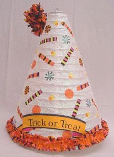 Halloween Candy Treats Party Hat Light Up Decoration