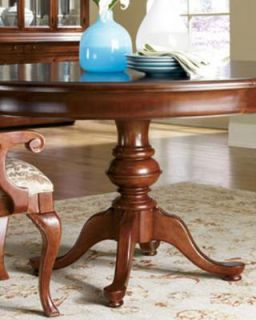 Thomasville Furniture King Street Pedestal Dining Table Optional Side
