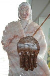 Arthur Jack Pink Alabaster Sculpture White Buffalo Spir