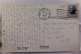Island Acadia National Park Bass Harbor Light Postcard Old PC