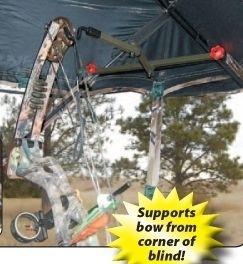 Ground Blind Folding Bow Hanger Holder Deer Turkey Hunting GBFH