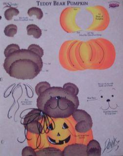 Donna Dewberry RTG Bearpumpkin Worksheet One Stroke New