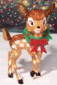 Deer Light Disney Bambi 3D Metal Fabric 23 inch 35 Lights in Out