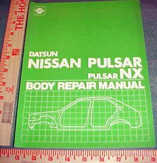 1982 Nissan Pulsar NX Coupe Sedan Body Repair Manual