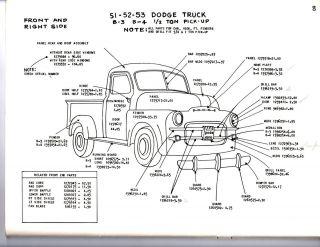 Dodge Truck 1 2 3 4 1 Ton Exterior Body Parts Diagram Sheets Wm