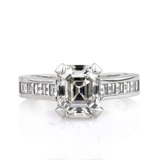 66ct Emerald Cut Diamond Engagement Ring Anniversary Ring