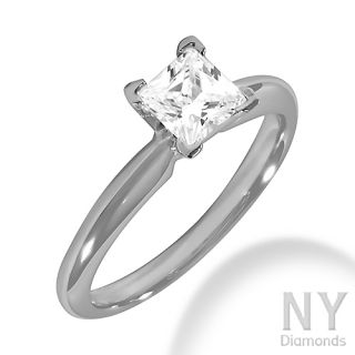 Ct G SI 14k White Gold Genuine Diamond Engagement Ring