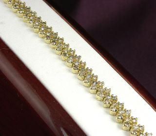 CARAT Total Weight Diamond Tennis Bracelet in 14KT Yellow Gold 11