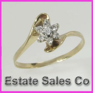 yellow gold round diamond cluster flower ring 15 carats total