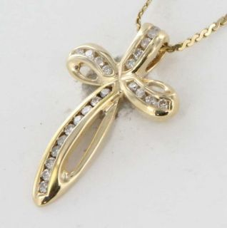 Gold Diamond Cross Pendant Necklace 17 Fine Religious Jewelry