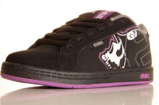 Etnies Girls Kids Metal Mulisha Fader Shoes Size 2Black/Purple