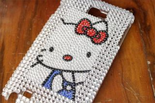 Bling Diamond Kitty Back Hard Case Cover for Samsung Galaxy Note I9220