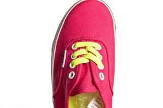 Vans Girls Kids Authentic Shoes Size 13 (Pop Lace) Virtual Pink
