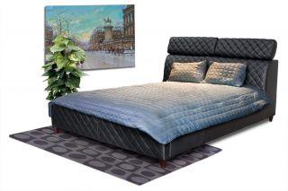 Diamond Sofa Coco California King Tufted Leather Bed Black