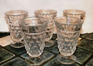 Fostoria American Rounded Diamond Ice Tea Glasses