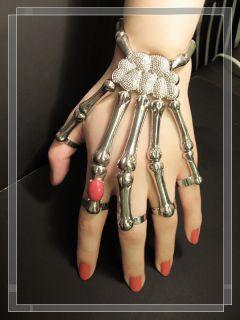 Bone Bracelet Ring Gothic Punk Skull Delfina Delettrez Gaga