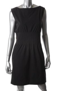 Diane Von Furstenberg Seira Black Pleated Drape Neck Cocktail Dress 4