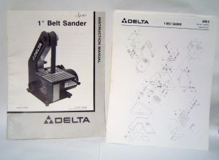 Delta 1 Belt Sander Model 31 080 Part #1340230 & 1340229 Instruction