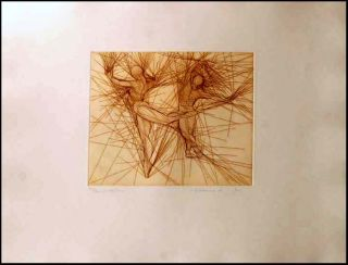 Guillaume Azoulay Pas de Deux Hand Signed Art Etching Dancers Artwork