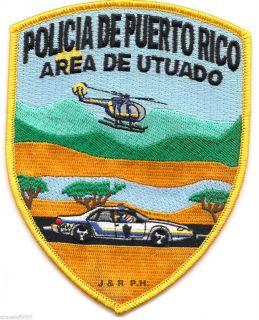 Policia de Puerto Rico Area de Utuado Shoulder Police Patch Fire