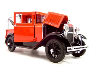 MODEL A TOW TRUCK RED 118 DIECAST CAR MODEL BY SIGNATURE MODELS 18116