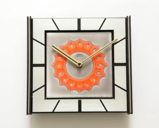 60s DIEHL JUNGHANS Lic Ato German wall desk Clock Fat Lava modernist