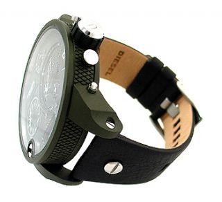 Diesel DZ7250 Black Round Dial Brown Leather Mens Watch