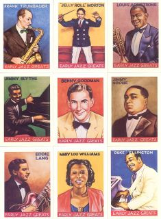 Crumbs Trading Cards Early Jazz Greats Boxed Set