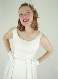 60s Vintage Simple Elegant Jackie Wedding Dress s M