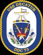 ORIGINAL US NAVY USS DECATUR DDG 73 HAT   NEVER WORN CONDITION