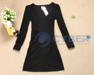 Womens Sexy Office V Party Cocktail Club Stylish Mini Dress Hot Sales