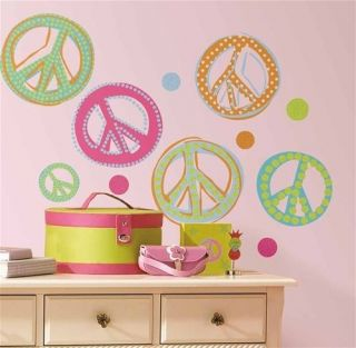26 Big Wall Stickers Room Decor Polka Dots Glittery Decals