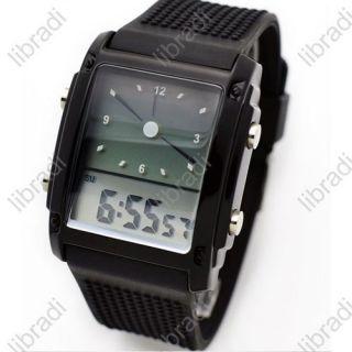 Digital Sports Man Water Resistant Wrist Watch Date Alarm Clock Black