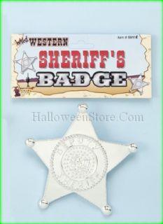 Plastic Deputy Sheriffs Badge Prop Western Accessory