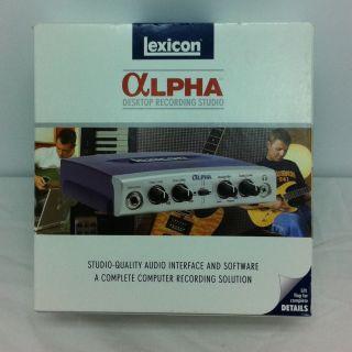 Lexicon Lexalphav Alpha Digital Recording Studio