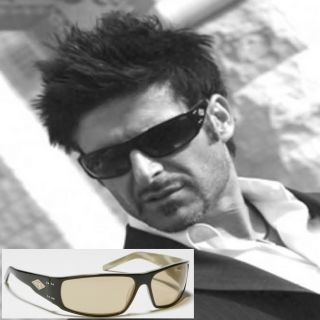 New $90 Gatorz Viper Sunglasses Black Cream Grey Lens
