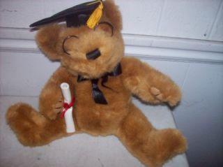 cute dan dee plush graduation bear black gold