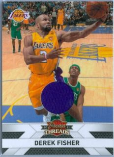 Derek Fisher 2010 11 Panini Threads Game Jersey SP 399
