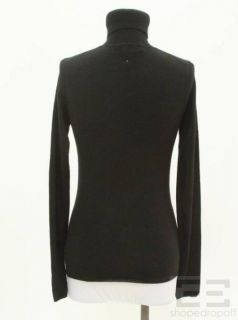 Derek Lam Black Cashmere Silk Turtleneck Sweater Size M