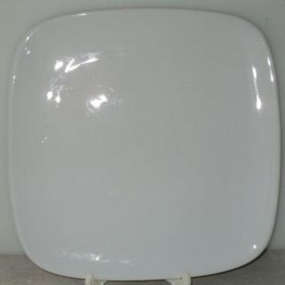 Wentworth Porcelain Solid White Square Dinner Plate