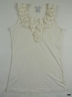 DESIGN HISTORY White Sleeveless Top Shirt S NWOT