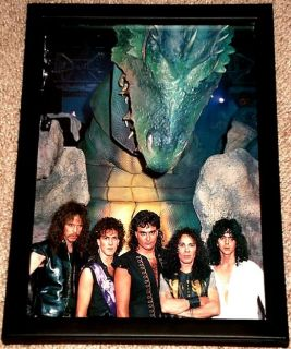 Ronnie James Dio Vivian Campbell 1980s Framed Band Portrait Tribute