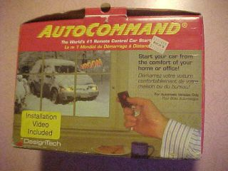 Autocommand Remote Control Car Starter, Complete Factory Package with