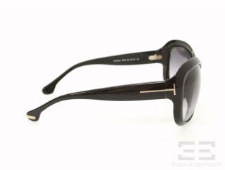 Tom Ford Black Large Round Frame Veronique Sunglasses TF82