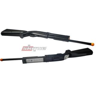 Rifle Shotgun for Nintendo Wii Black Remote Controller Shooting Gun