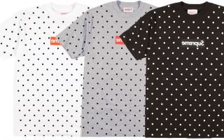Supreme SS12 Comme Des Garcons Box Logo Tee 3 Color Polka Dot Sweater
