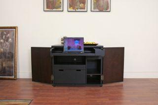 FYN black cabinet style MODERN wood computer DESK