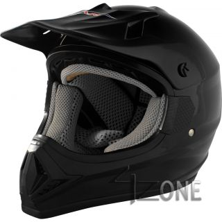Vcan Motorcycle Offroad Dirt Bike Bluetooth Helmet Glossy Black Dot s