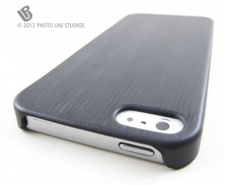 Gray Wood Design Hard Shell Case Cover for Apple iPhone 5 Phone